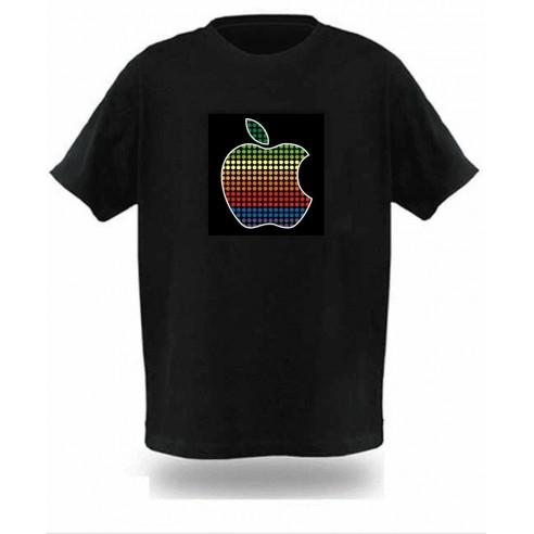 Camiseta LED Sonido Modelo Manzana