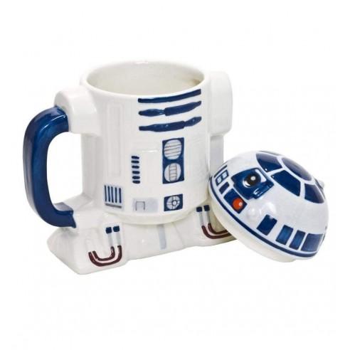 Taza Star Wars R2-D2 en Relieve con Tapa