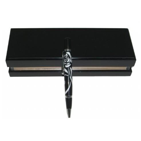 Bolígrafo Diseño de Rosa en Estuche de Lujo