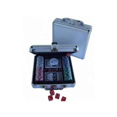 Set de Póker con 100 fichas en Estuche de Aluminio