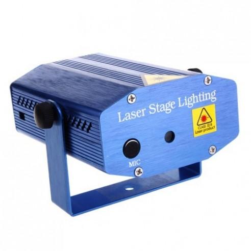 Proyector Laser Luz Roja Verde Activacion por Sonido