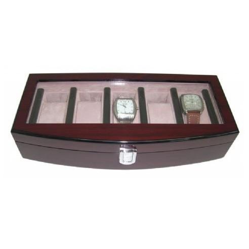 Elegante Estuche de Madera para 5 relojes con Expositor
