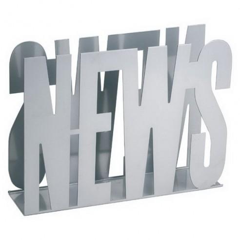 Revistero News Metálico en Color Plata