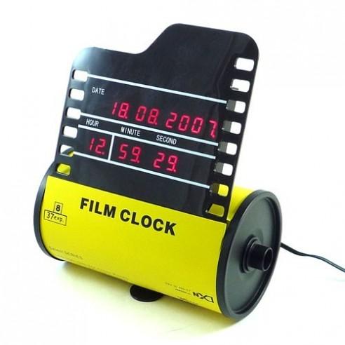 Reloj Digital carrete película fotográfica