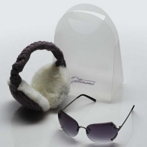 Orejeras y Gafas de Sol Estuche Regalo-Set Glamour Gattinoni