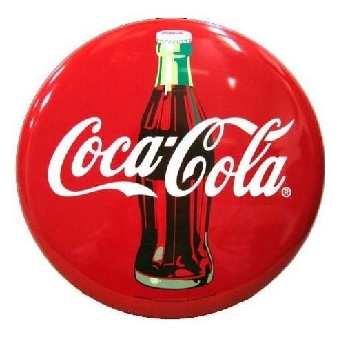 Placa Metálica de Pared con Diseño Coca-Cola