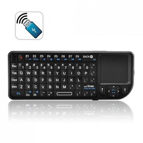 Mini Teclado Inalámbrico 2,4Ghz con Touchpad y Puntero Láser