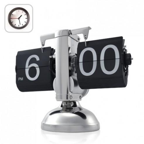 Reloj Flip Retro con Estructura Metálica