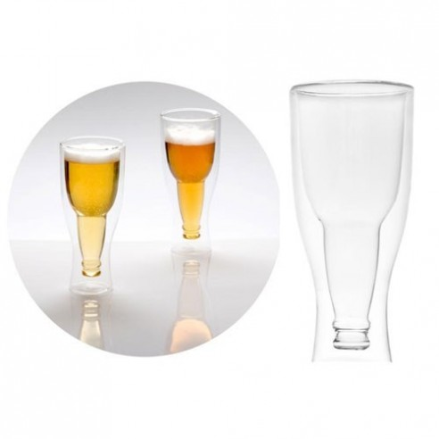 Vasos de Cerveza en Cristal Diseño Graviti