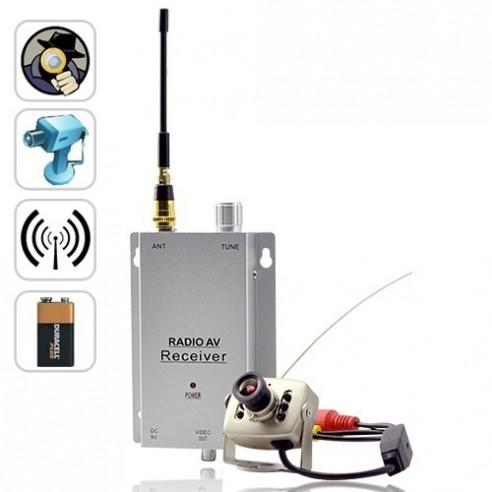Mini Cámara Vigilancia Espía Inalámbrica Transmisor y Receptor