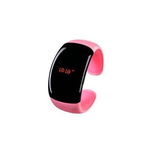 Brazalete Bluetooth con Vibrador y Pantalla, Reloj y Diseño Rosa