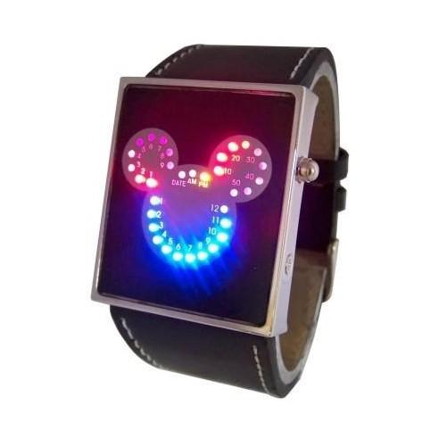 Reloj Led Diseño Mickey con 33 Leds