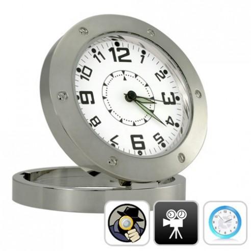 Reloj Mesa Espía HD Detección de Movimiento, 5 Mpx y 8GB
