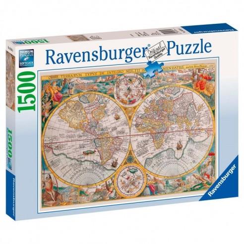 Puzzle Mapamundi Histórico 1.500 piezas