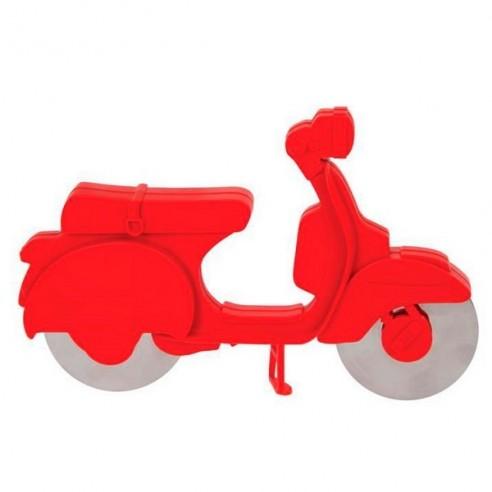 Corta Pizza Moto Scooter Roja