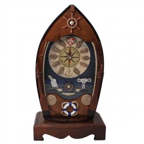 Barco Reloj Porta Llaves con Motivos Náuticos