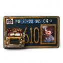 Portafotos Matrícula Autobús Escolar Metal Envejecido