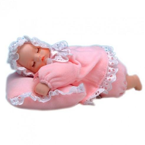 Bebé Musical con Movimiento sobre Almohada