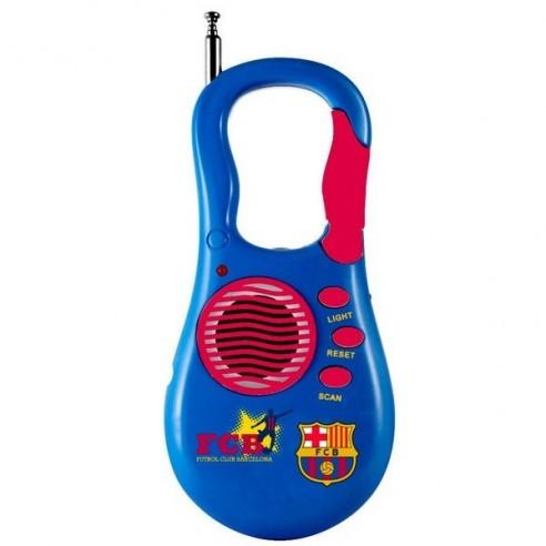 Radio Portátil con Mosquetón FC Barcelona