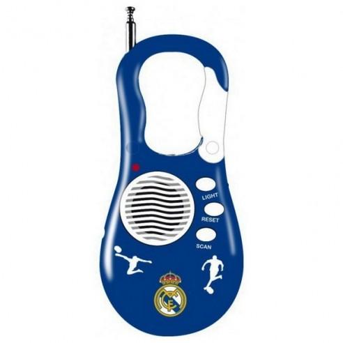 Radio Portátil con Mosquetón Real Madrid