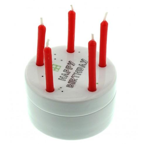 Caja Porcelana Celebración Cumpleaños Portátil