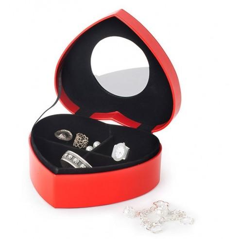 Caja Joyero Corazón Rojo