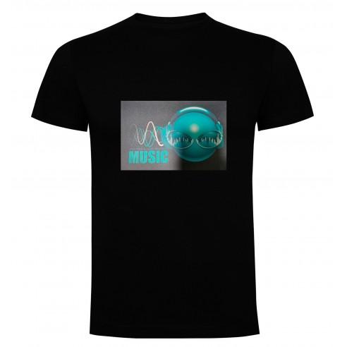 Camiseta Led Music Vector
