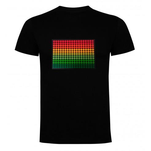 Camiseta Led Ecualizador Puntos