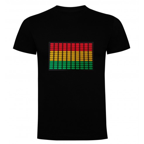 Camiseta Led Ecualizador de 3 Colores