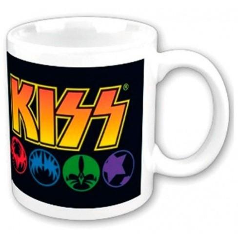 Taza Original de Colección Kiss Máscaras