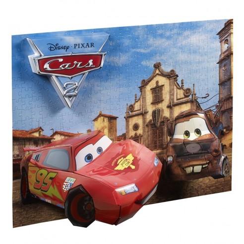 Puzzle Cars 3D Breakthrough Rayo McQueen y Mate (200 piezas)
