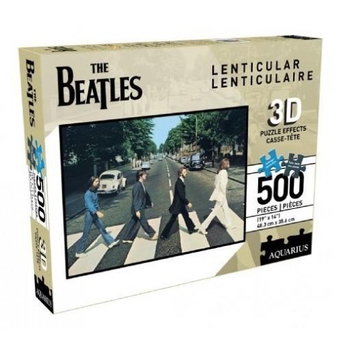 Puzzle The Beatles Efecto 3D LenticularAbbey Road (500 piezas)