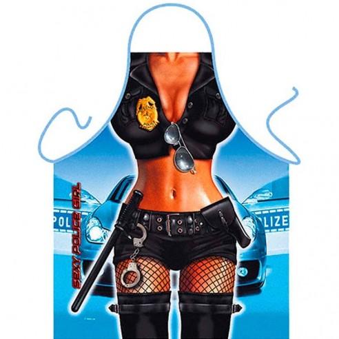 Delantal Sexy Mujer Policía