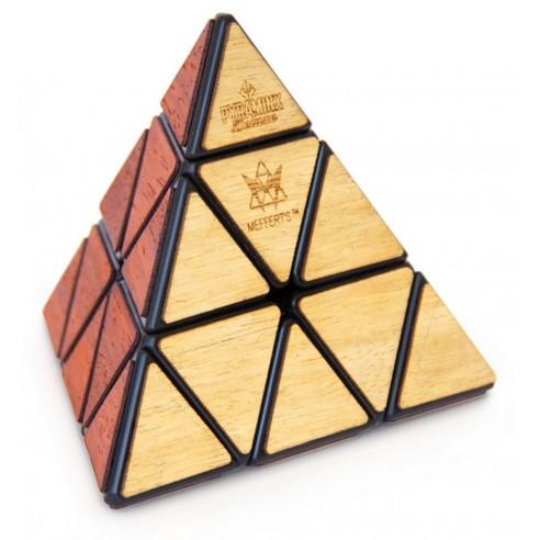 Pyraminx Deluxe acabado Madera