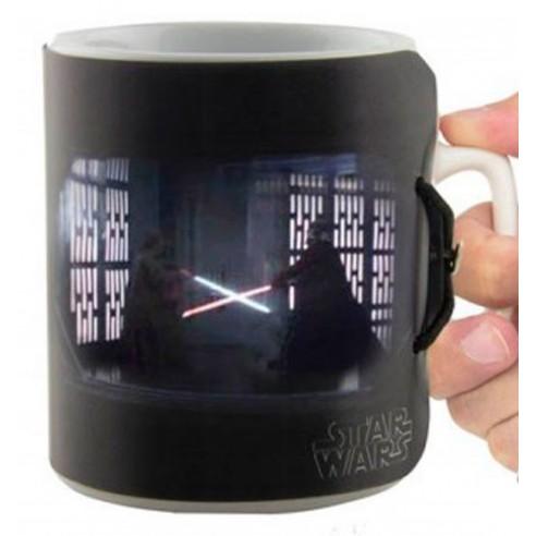 Taza Cerámica 3D Star Wars Duelo Sable Láser