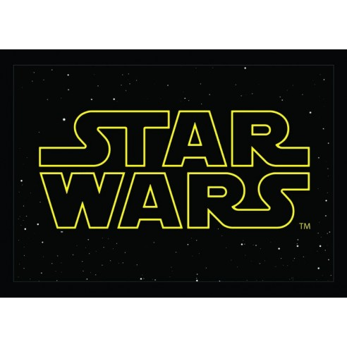 Felpudo Logo Star Wars Logo Amarillo