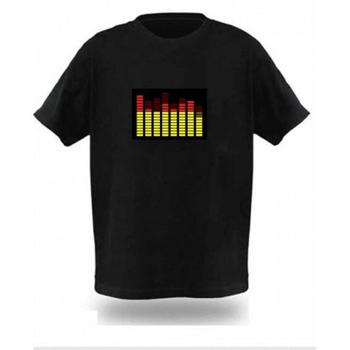 Camiseta Led Ecualizador Ecualiseta