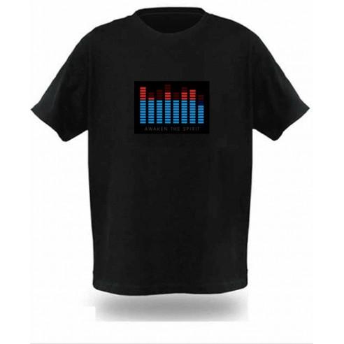 Camiseta Led Ecualizador Ecualiseta Activación Sonido