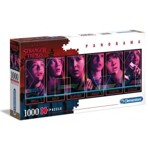 Puzzle Stranger Things Panorama 1.000 piezas