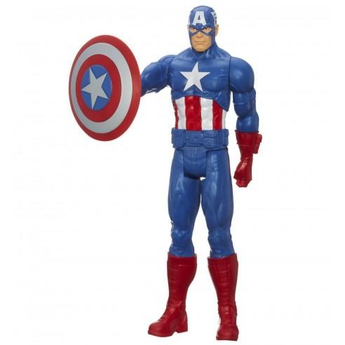 Figura Capitán América Serie Titan 30 cm.