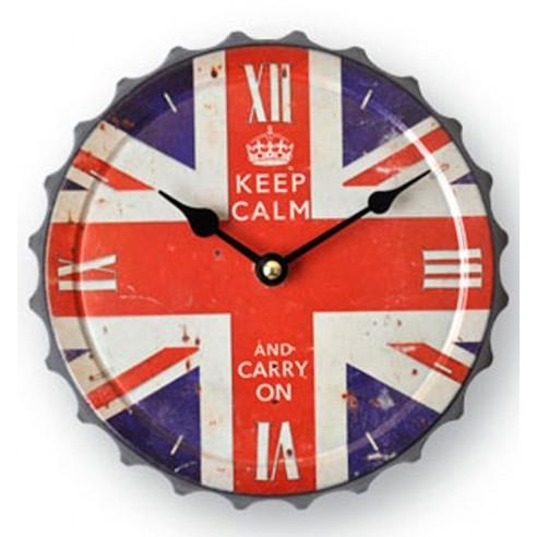 Reloj Pared Chapa Bandera Inglesa