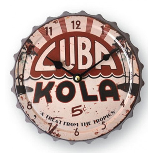 Reloj Pared Chapa Cuba Kola