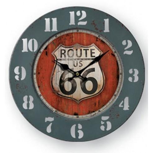 Reloj Pared Route 66