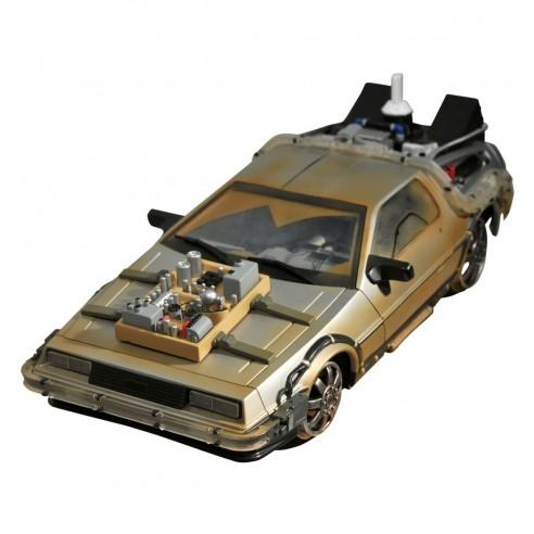 Coche Regreso al Futuro III Rail Ready DeLorean 33cm.