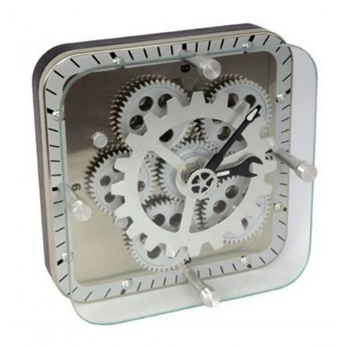 Reloj Sobremesa Engranajes Cuadrado