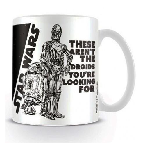 Taza Star Wars Droides R2D2 y C-3PO