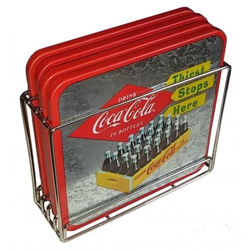 Set Posavasos Diseño Coca-Cola