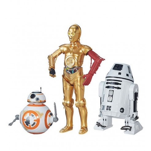 Pack 3 Figuras Droides BB-8, C-3PO, RO-4LO