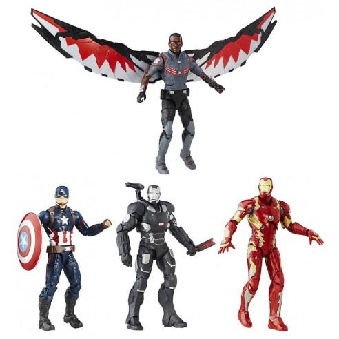 Conjunto de 4 figuras Capitán América: Civil War