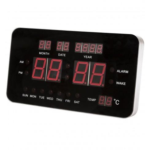 Reloj Digital Retro con Alarma y Termómetro